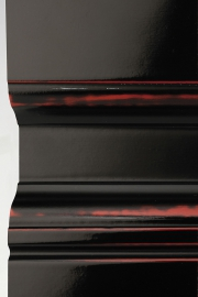 Black lacquer on Chinese red