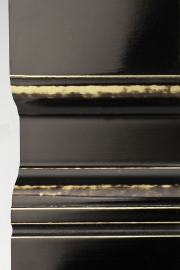 Black lacquer on gold