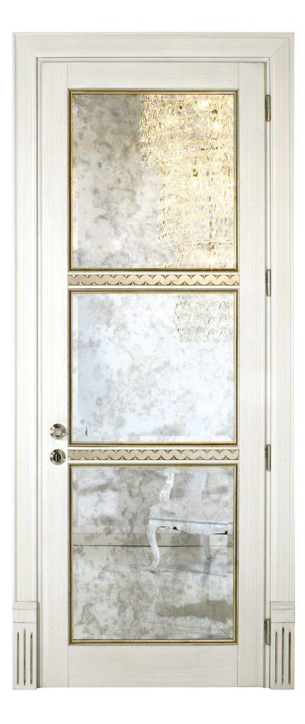 sigegold white door with glass