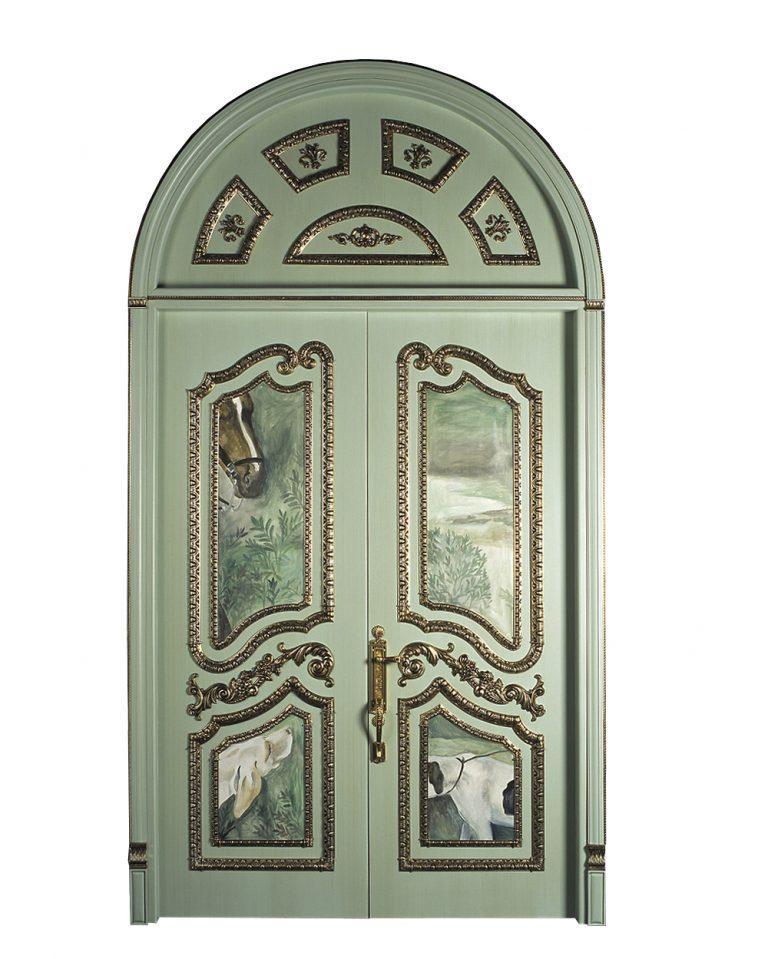 green classic door